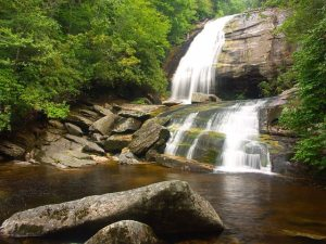 Greenland Creek Falls in Panthertown Valley