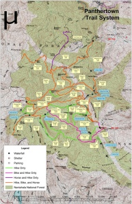 Panthertown Trail System Map