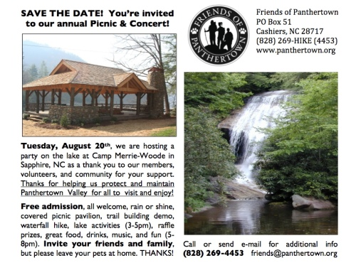 Friends of Panthertown Picnic & Concert