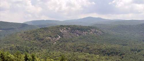 Little Green Mountain in Panthertown