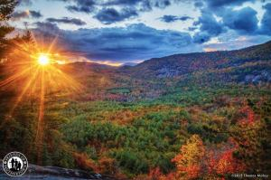 October 2015 Sunset in Panthertown Valley (Photo by Thomas Mabry)