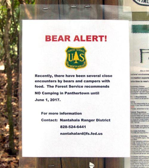 USFS Bear Alert
