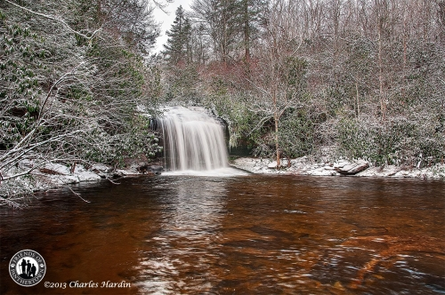 Snowy Schoolhouse Falls Photo by Charles Hardin