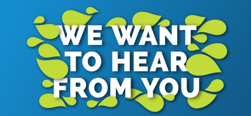 We want to hear from you.